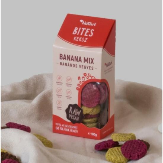Banános vegyes keksz- aszalt termék -100 g