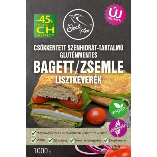 Szafi FreeSzafi Free csökkentett szénhidrát-tartalmú bagett / zsemle lisztkeverék (gluténmentes) 1000 g